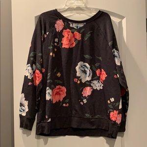 NWOT floral sweatshirt